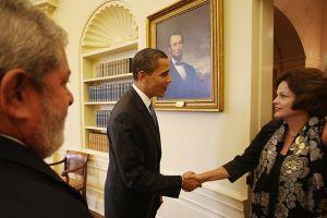 Obama and Brazilian president Dilma Rousseff (photo: Wikipedia)