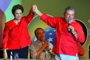 Dilma and Lula on the campaign trail, 2010 (photo: Wikipedia)