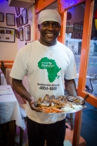 Chef and owner Maxime Tankouo (photo - Helena Andell)