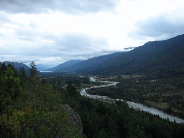 View of the Rio Azul from the mirador.