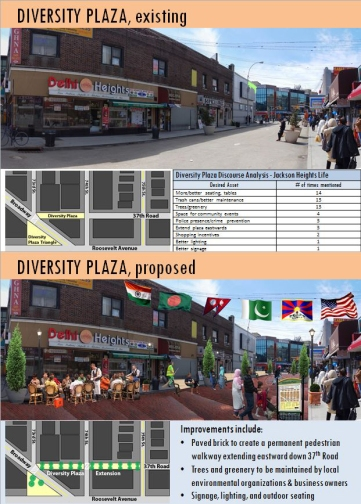 Diversity Plaza Existing and Proposed