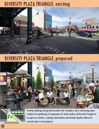 Diversity Plaza Triangle Existing and Proposed